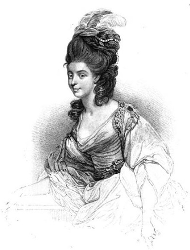 Georgiana, Duchess of Devonshire, from Posthumous memoirs of his own time by NW Wraxall (1836)