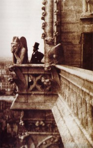 A view from Notre Dame Cathedral, 1853. Public domain.