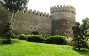 azerbaijan old city 15th centry walls