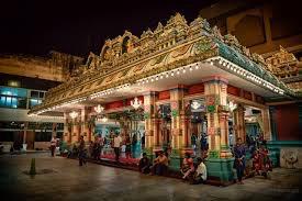 kuala lumpur hindu temple interior