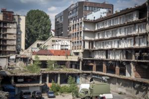 Belgrade bombed buildings