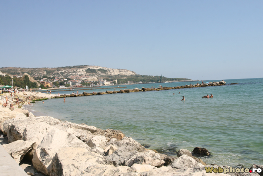 Balcic – it does have some sandy scraps but mostly it's rocky