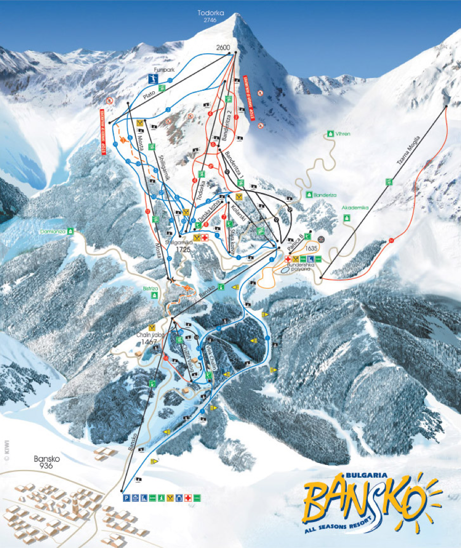 Bulgaria Ski Map