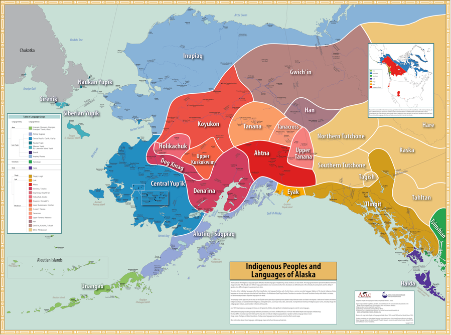 Multilingual Alaskan Languages Map