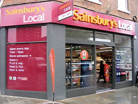 Sainsburys Local Grocery Store London