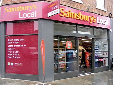 Sainsburys Local Grocery Store London