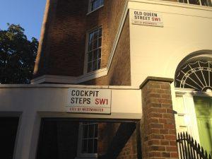 Romance Novelist Visiting Cockpit Steps in London
