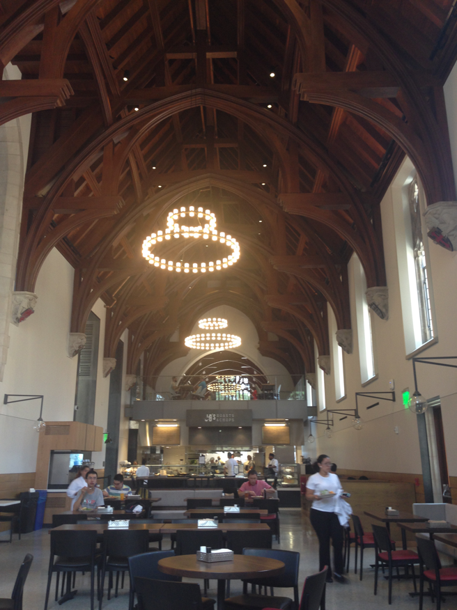The Gothic Dining Hall has been divided into two separate food stations.