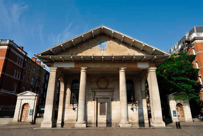 This classical church was constructed in 1633 and is in Covent Garden