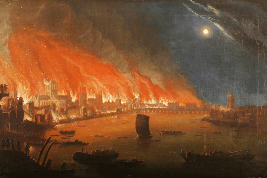 Great Fire of London. 1666