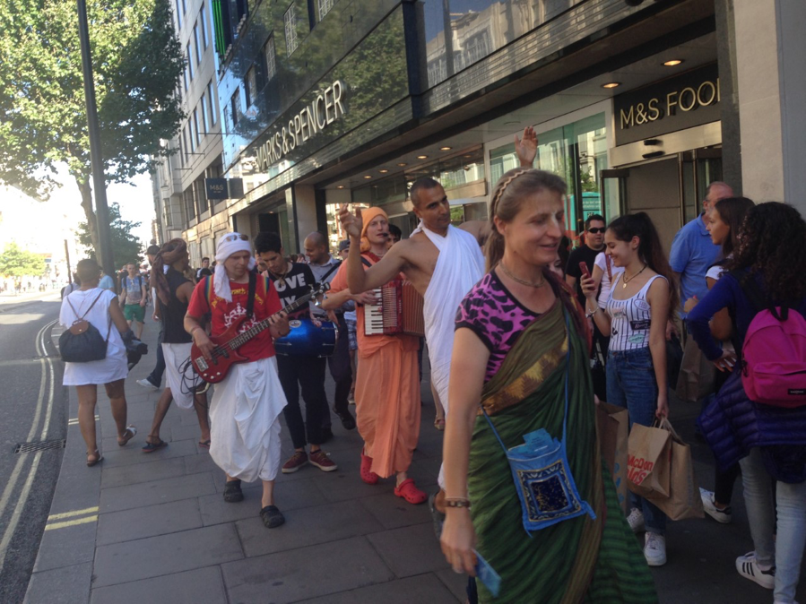 Hare Krishnas on Oxford Street