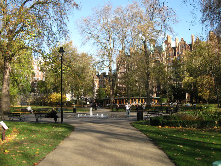 Russell Square, one side of which is defined by Montague Street