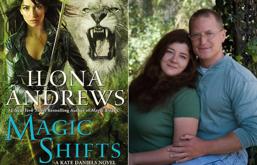 Ilona and Gordon Andrews and a cover from their popular Kate Daniels series