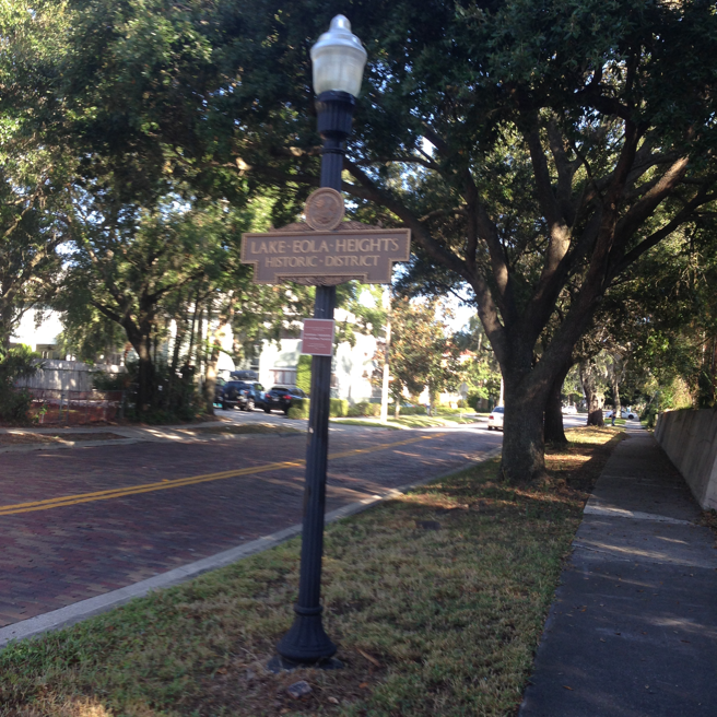 At the corner of Summerlin and Robinson, a block from Lake Eola
