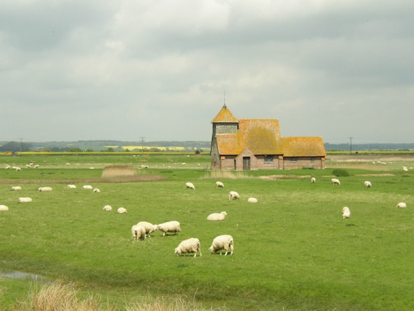Romney Marsh, known for sheep – Tidy's series is infused with coastal atmosphere