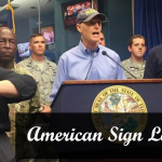 American Sign Language interpreters helping during Hurricane Irma press conferences